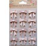 Little Birdie Crafts - Boutique Elements Collection - Pearl Bows - Bisque