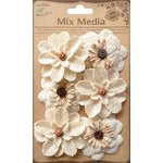 Little Birdie Crafts - Mix Media Collection - Canvas Daisies - Natural