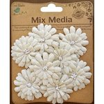 Little Birdie Crafts - Mix Media Collection - Canvas Layered Petals - Natural