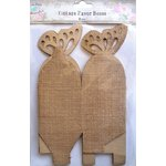 Little Birdie Crafts - Burlap Collection - Gift Box - Butterfly - Large