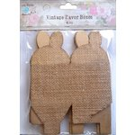 Little Birdie Crafts - Burlap Collection - Gift Box - Petal - Medium