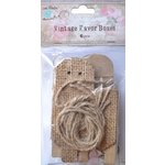 Little Birdie Crafts - Burlap Collection - Gift Box - Triangle - Small
