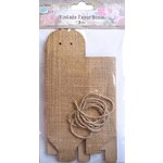 Little Birdie Crafts - Burlap Collection - Gift Box - Triangle - Large