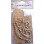 Little Birdie Crafts - Burlap Collection - Gift Box - Triangle - Medium