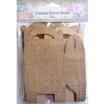 Little Birdie Crafts - Burlap Collection - Gift Box - Gable - Medium