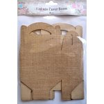 Little Birdie Crafts - Burlap Collection - Gift Box - Gable - Large