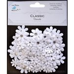 Little Birdie Crafts - Classic Elements Collection - Jeweled Florettes - White