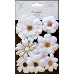 Little Birdie Crafts - Classic Elements Collection - Symphony Flower - White