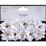 Little Birdie Crafts - Classic Elements Collection - Serenade Blooms - White