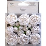 Little Birdie Crafts - Classic Elements Collection - English Roses - Small - White