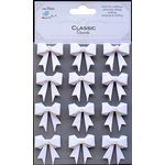 Little Birdie Crafts - Classic Elements Collection - Pearl Bows - White