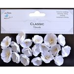 Little Birdie Crafts - Classic Elements Collection - Embossed Daisies - White