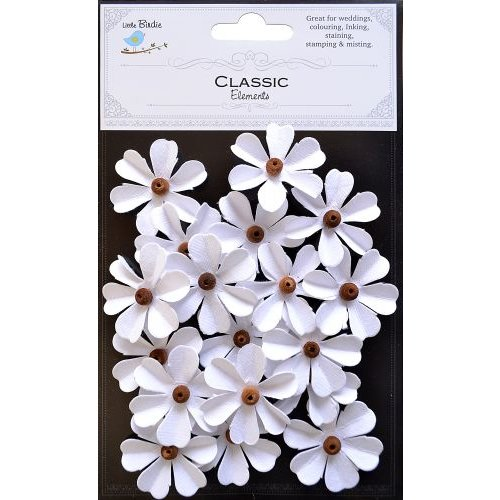Little Birdie Crafts - Classic Elements Collection - Beaded Fancies - White