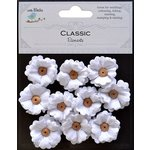 Little Birdie Crafts - Classic Elements Collection - Petite Buttercups - White