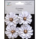 Little Birdie Crafts - Classic Elements Collection - Mountain Daisies - White