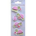 Little Birdie Crafts - Holiday Crafts Collection - Valentine - 3 Dimensional Printed Tortoise