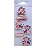 Little Birdie Crafts - Holiday Crafts Collection - Valentine - Monkey