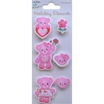 Little Birdie Crafts - Holiday Crafts Collection - Valentine - Teddy Bear