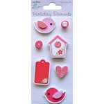 Little Birdie Crafts - Holiday Crafts Collection - Valentine - Bird and Bird House