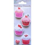 Little Birdie Crafts - Holiday Crafts Collection - Valentine - Cupcakes