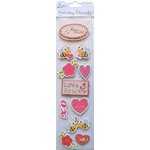 Little Birdie Crafts - Holiday Crafts Collection - Valentine - 3 Dimensional Printed Love Strlitk