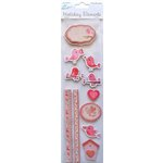 Little Birdie Crafts - Holiday Crafts Collection - Valentine - 3 Dimensional Printed Birds