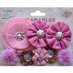 Little Birdie Crafts - Wearables Collection - Accessory - Fabric Flowers - Carnation Pink