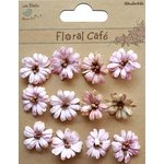 Little Birdie Crafts - Floral Cafe Collection - Printed Petite Daisies - Pink