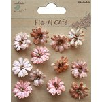 Little Birdie Crafts - Floral Cafe Collection - Printed Petite Daisies - Red