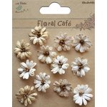 Little Birdie Crafts - Floral Cafe Collection - Printed Petite Daisies - Vintage