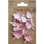 Little Birdie Crafts - Floral Cafe Collection - Printed Leaves - Pink
