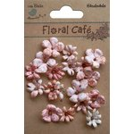 Little Birdie Crafts - Floral Cafe Collection - Printed Vienna Petals - Red