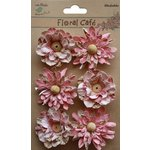 Little Birdie Crafts - Floral Cafe Collection - Printed Venice Petals - Pink