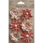 Little Birdie Crafts - Floral Cafe Collection - Printed Venice Petals - Red