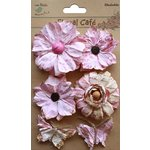 Little Birdie Crafts - Floral Cafe Collection - Printed Paris Petals - Pink