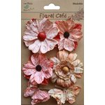 Little Birdie Crafts - Floral Cafe Collection - Printed Paris Petals - Red