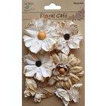 Little Birdie Crafts - Floral Cafe Collection - Printed Paris Petals - Vintage