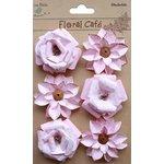 Little Birdie Crafts - Floral Cafe Collection - Printed Milan Petals - Pink