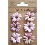 Little Birdie Crafts - Floral Cafe Collection - Printed Prague Petals - Pink