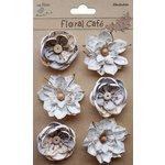 Little Birdie Crafts - Floral Cafe Collection - Printed Linz Petals - Grey