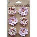 Little Birdie Crafts - Floral Cafe Collection - Printed Linz Petals - Pink