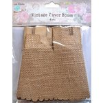 Little Birdie Crafts - Burlap Collection - Gift Box - Treat - Medium