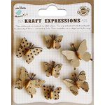 Little Birdie Crafts - Kraft Expressions Collection - Beaded Butterflies - Mini