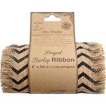 Little Birdie Crafts - Mix Media Collection - Burlap Ribbon - Chevron - 6 Inch