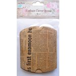 Little Birdie Crafts - Newsprint Collection - Gift Box - Pillow Box - Medium