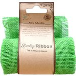 Little Birdie Crafts - Mix Media Collection - Burlap Ribbon - Green