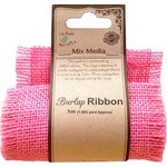 Little Birdie Crafts - Mix Media Collection - Burlap Ribbon - Light Pink