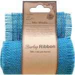 Little Birdie Crafts - Mix Media Collection - Burlap Ribbon - Blue