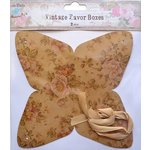 Little Birdie Crafts - Vintage Floral Collection - Gift Box - Pyramid - Large