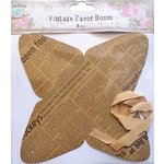 Little Birdie Crafts - Newsprint Collection - Gift Box - Pyramid - Large